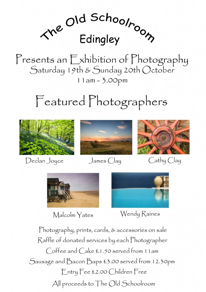 Exhibition at The Old Schoolroom Edingley: 19th - 20th October 11:00am - 3:00pm